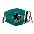 San Jose Sh-a-rks (15) Unisex Washable Mask and Reusable Cotton Warm Face Cover for Outdoor for NHL Team San Jose Sharks face cover