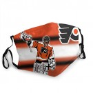 G-III Sports Philadelphia Flyers Adults Reusable Dust Face Cover Soft Washable for Running Cycling Fishing Outdoor Breathable for NHL Team Philadelphia Flyers face mask