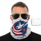 Columbus Blue Jackets Face Shield with Filter Repeatable Face Cover Windproof Sport Mask Multifunction Bandana Outdoor Balaclava for NHL Team Columbus Blue Jackets face cover