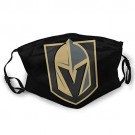 Watkinsmarket Vegas Golden Knights Mask Wild Turban Retro Personality Fashion Dustproof Windproof Uv Sunscreen Neck for NHL Team Vegas Golden Knights face mask