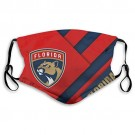 Florida Panthers Face Cover Reusable Air Filter Mouth Dust Cover Adjustable for Adult (M) and Kids (S) for NHL Team Florida Panthers face cover