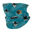 San -Jose -Sharks Neck Gaiter Face Mask Reusable, Washable & Breathable Cloth Shield, Cover & Scarf for UV, Sun & Dust Protection for NHL Team San Jose Sharks face cover