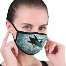 San Jose Sharks Dust Face Cover with Ice Hockey Logo Reusable Face Covering for Men and Women Fashion Outdoor Mouth Guard Black for NHL Team San Jose Sharks face cover
