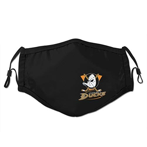 Anaheim Ducks Dust Face Cover Adult Summer Uv Protection Cover Nose and Mouth Adjustable Reusability Bandana Black for NHL Team Anaheim Ducks face cover